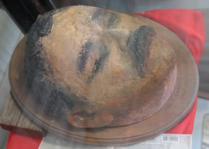 Replica of Pancho Villa's death mask.