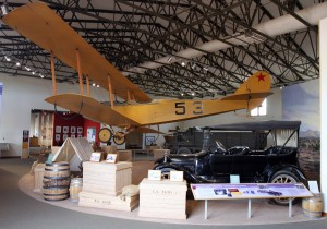 Replica of a biplane used during the Punitive Expedition - Columbus, NM was the site of the United States' first airbase.