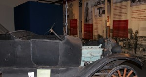 A 1915 Dodge with bullet holes from Pancho Villa's raid.