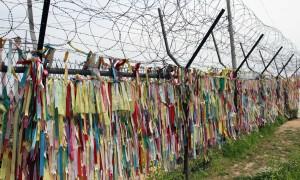 Korean memorial ribbons near Freedom Bridge.
