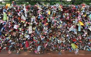 Love locks on Namsan mountain.