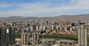 Panoramic view of Ulaanbaatar from the monument.