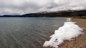 Ice along Lake Khuvsgul.