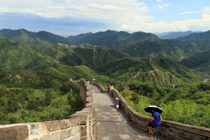 The Great Wall of China near Badaling.