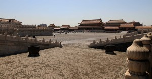 The Gate of Supreme Harmony seen from corner of Hall of Supreme Harmony.