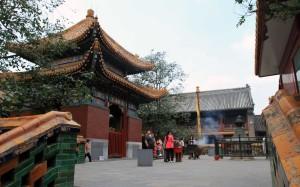 Inside the Yonghegong Lama Temple.