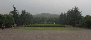 Burial mound of Qin Shi Huang, the first emperor of China.