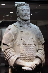 Terracotta general on display in Pit 2.