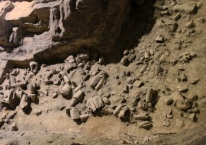 Shattered terracotta warriors in Pit 2.
