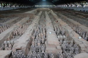Terracotta army in Pit 1.