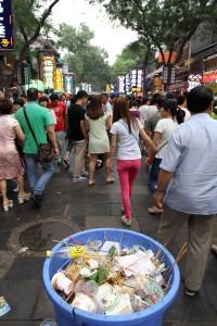 Market street in Xi'an.