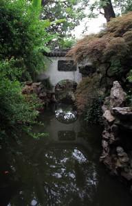 Pond inside the Yuyuan Gardens.