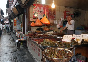 Food available to purchase in Zhujiajiao.
