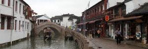 Arched bridge in Zhujiajiao.