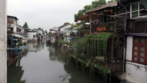 Residences along the canal in the ancient town.
