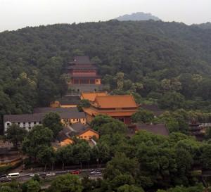 Jingci Temple at the foot of Huiri Peak of Nanping Hill.