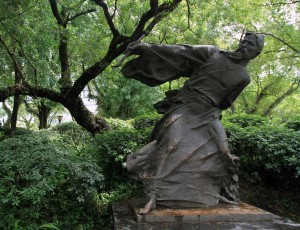 Statue of a calligrapher in Guilin.
