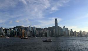 View of Hong Kong Island from the promenade at Kowloon.