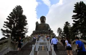 Giant Buddha statue near Po Lin Monastery.