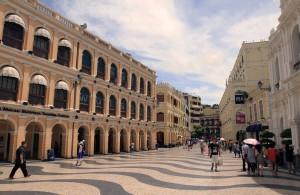 "Senado Square (translated as ""Senate Square"") in Macau."