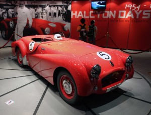Classic and beautiful racing car on display in the Grand Prix museum.