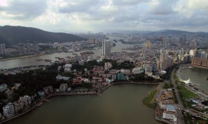 View of the city from Macau Tower.