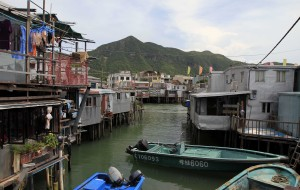 Sheet metal houses on stilts in Tai O.