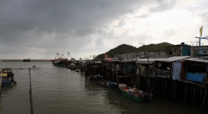 Fishing boats anchored in Tai O.