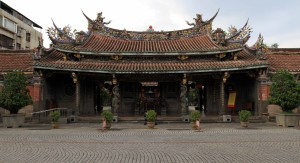 "Dacheng Hall (meaning ""Great Achievement""), the main hall at the Confucius Temple."