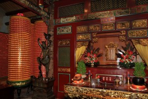 Inside one of the shrines in Dalongdong Bao'an Temple.