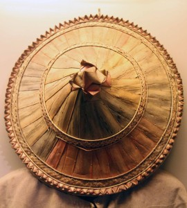 Traditional hat used by Filipino farmers.
