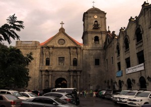Facade of St. Augustine church, the oldest church in the Philippines.