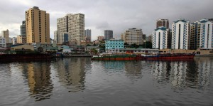 Looking across the Pasig River north of Fort Santiago.