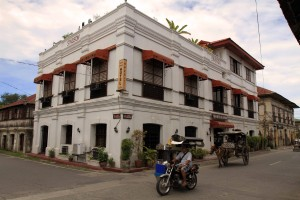 Vigan Heritage Mansion on the corner of Calle Crisologo and Calle Liberation.