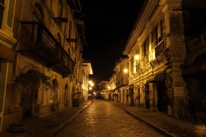 Another picture of Calle Crisologo after midnight.