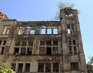Dilapidated building found near the square in Kota Tua.