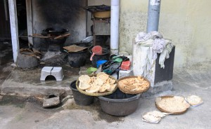 Food being left to dry outside.