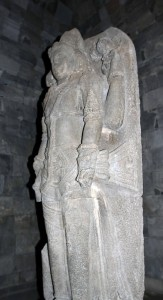 Statue found inside one of the smaller buildings.