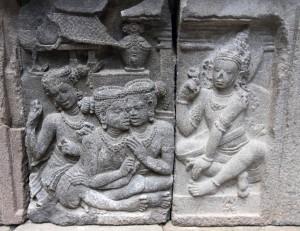 Relief at Candi Prambanan.