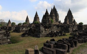 Another view of the Prambanan temple complex.