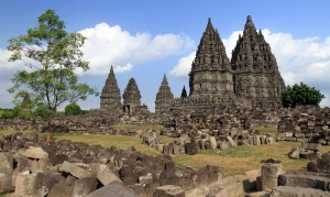 One last view of the Prambanan temple complex.
