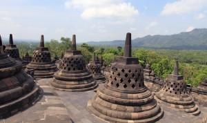 More perforated stupas at Borobudur.