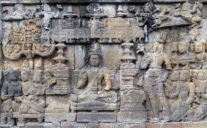 Another relief at Borobudur.
