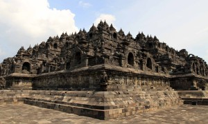 One of the four corners of Borobudur temple.