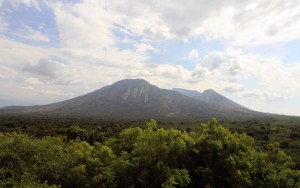 Mount Baluran seen from Bekol lookout tower.