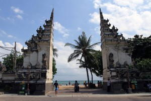 Southern entrance to Kuta Beach.