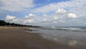 Looking south on Legian Beach.