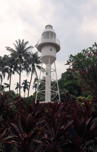 Lighthouse on Government Hill, located near Raffles Terrace.