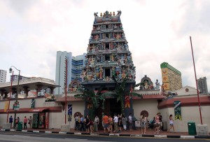 The entrance of the Sri Mariamman Temple.