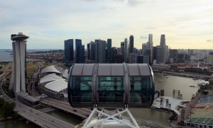At the height of the Singapore Flyer.